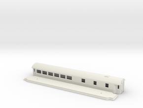 Ro3 version 1 - Swedish passenger wagon in White Natural Versatile Plastic