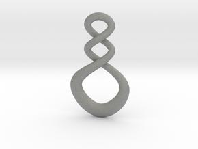 Maori Infinity Pendant in Gray Professional Plastic