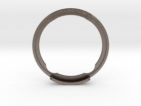 GyroPod - The Omnipod SHIELD (only SIDE B) in Polished Bronzed-Silver Steel