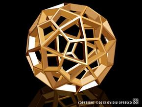 Polyhedral Sculpture #29A  in White Strong & Flexible Polished