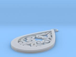 Persephone pendant in Smooth Fine Detail Plastic: Medium