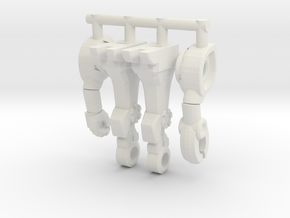 Insecoid Inchman Limbs in White Natural Versatile Plastic