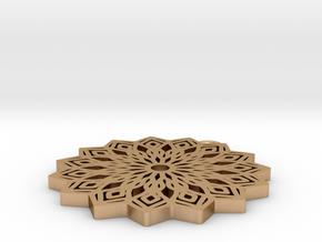 Lelia pendant in Natural Bronze: Medium