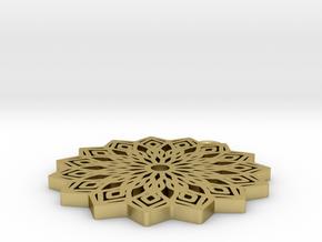 Lelia pendant in Natural Brass: Medium