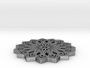 Lelia pendant in Natural Silver: Medium