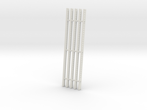 Katyusha Right Rails 1:16 scale in White Natural Versatile Plastic