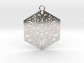 Ornamental pendant in Platinum