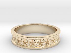 Starry Nut Band w/edges - Size 7 in 14K Yellow Gold