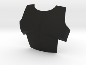 ARC Chest plate 6 inches  in Black Natural Versatile Plastic