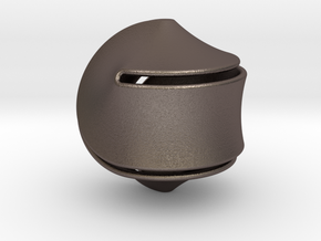 Sloped Hexasphericon Large & Hollow in Polished Bronzed-Silver Steel