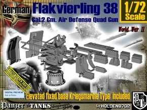 1-72 Kriegsmarine Flakvierling 38 Set001 in Smooth Fine Detail Plastic