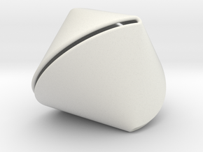 Sphericon Large & Hollow in White Natural Versatile Plastic