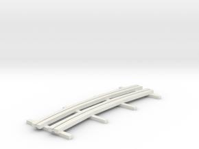 r-165bas-curve-1r-bridge-ng-track-long-plus2-1a in White Natural Versatile Plastic