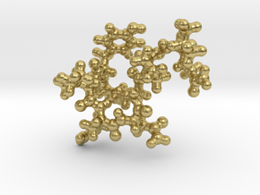 Oxytocin Keychain - Most probable conformation in Natural Brass