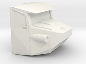 Cw Onslaught Cab in White Natural Versatile Plastic