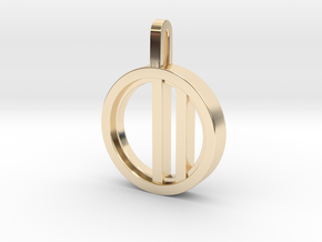 Minimalist - Unisex in 14k Gold Plated Brass: Small