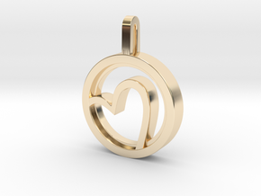 Heart  in 14K Yellow Gold: Small