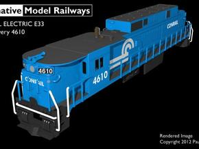 TTE3303 TT scale E33 loco - Conrail 4610 in Smooth Fine Detail Plastic