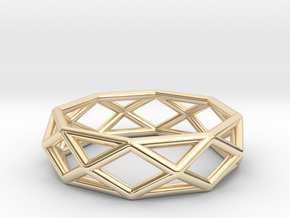 Casual grace in 14k Gold Plated Brass
