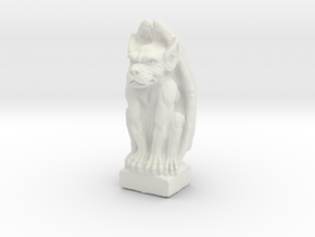 Gargoyle: Dollhouse scale, 50mm tall in White Natural Versatile Plastic