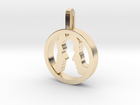 You and Me Necklace  in 14k Gold Plated Brass: Small
