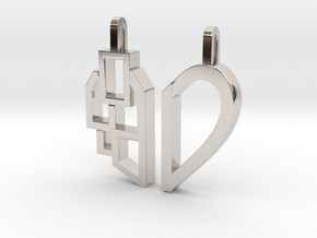 Better Together in Rhodium Plated Brass