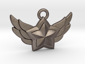 Star Guardian - First Star (Charm) in Polished Bronzed-Silver Steel