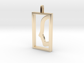 Independent  in 14k Gold Plated Brass: Large