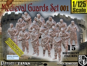 1/125 Medieval Guards Set001 in Smooth Fine Detail Plastic