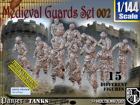1/144 Medieval Guards Set002 in Smooth Fine Detail Plastic