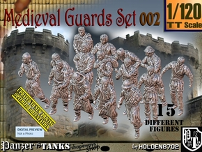 1/120 Medieval Guards Set002 in Smooth Fine Detail Plastic