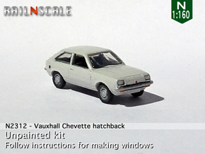 Vauxhall Chevette hatchback (N 1:160) in Smooth Fine Detail Plastic