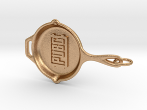 PUBG pan Keychain in Natural Bronze (Interlocking Parts)