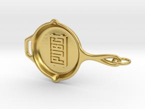 PUBG pan Keychain in Polished Brass (Interlocking Parts)