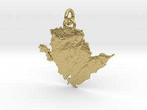 Ynys Môn - Anglesey in Natural Brass (Interlocking Parts)