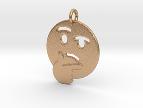 Thinker Emoji Pendant - Metal in Natural Bronze
