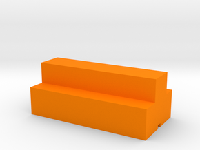 Game Piece, Lumber Token in Orange Processed Versatile Plastic