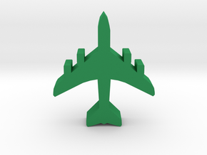 Game Piece, Airliner, 4 engines in Green Processed Versatile Plastic