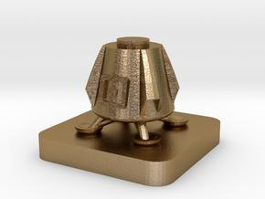 Mini Space Program, Dragon Lander in Polished Gold Steel