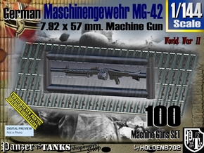 1/144 Machine Gun MG-42 Set001 in Smoothest Fine Detail Plastic