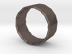 Rocky Ring 3 Size 8.25 in Polished Bronzed-Silver Steel