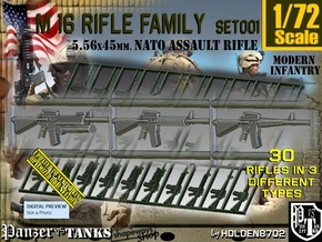 1/72 M16 Rifle Family Set001 in Smoothest Fine Detail Plastic