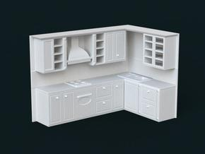 1:39 Scale Model - Kitchen Set 01 in White Natural Versatile Plastic