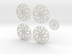 28 AF Biskane 26.2 in White Natural Versatile Plastic