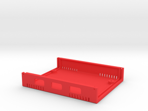 USB Sidecar for MiSTer Case B Shell (1/2) (v1.1) in Red Processed Versatile Plastic