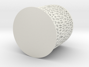 Voronoi Mug in White Natural Versatile Plastic