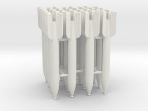 16 M-13 rockets scale 1:16 in White Natural Versatile Plastic