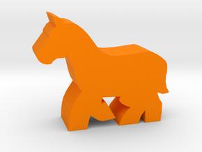 Game Piece, Horse Running in Orange Processed Versatile Plastic