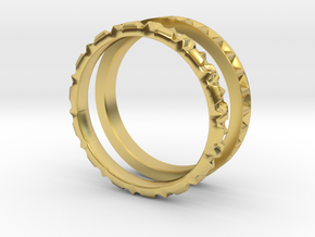 Geometric Stack Set 2 in Polished Brass: 3.5 / 45.25