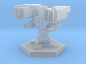 Dual Missile Auto turret in Smooth Fine Detail Plastic